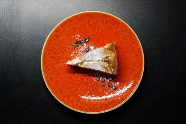 洋梨のベイクドチーズケーキ