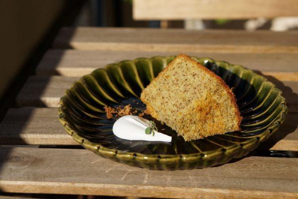 甘夏とアールグレイの米粉シフォンケーキ