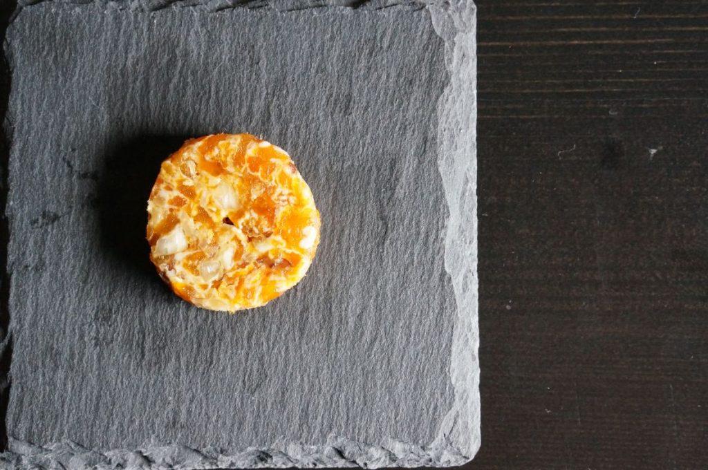 干し柿のメダイヨン