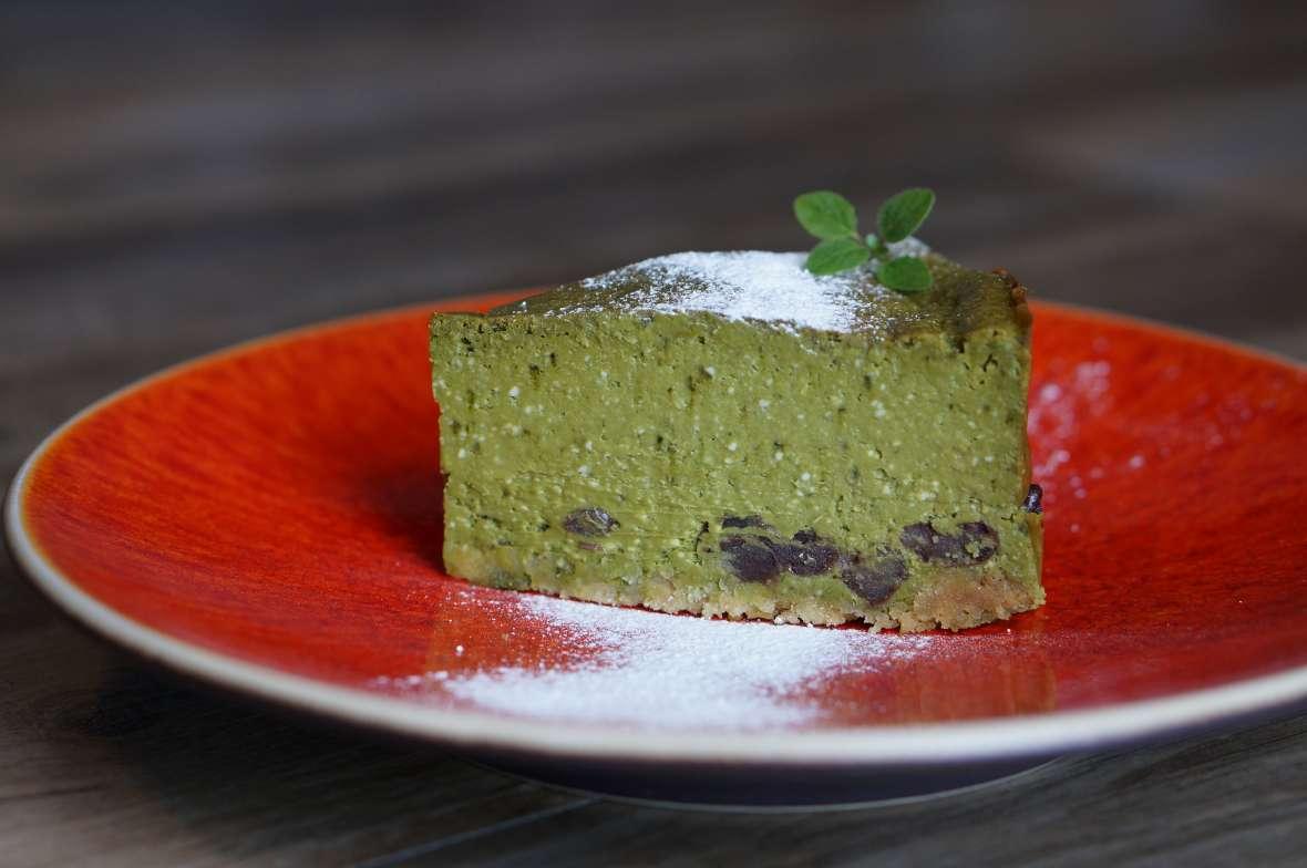 宇治抹茶のチーズケーキ