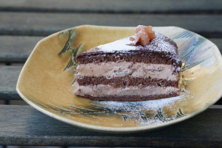 柿とほうじ茶のケーク・ローゼルのベイクドレアチーズケーキ・ポワールノワール