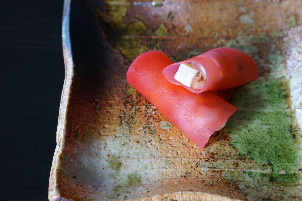 鰤、塩柚子、ヤーコン、紅くるり大根